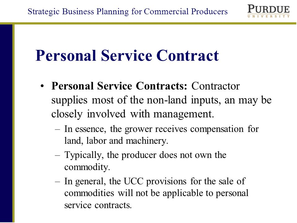 Personal Service Contract Sample Personal Service Contract Service - personal service contract