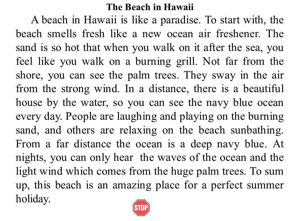 Example Of Descriptive Essay About The Ocean Mistyhamel