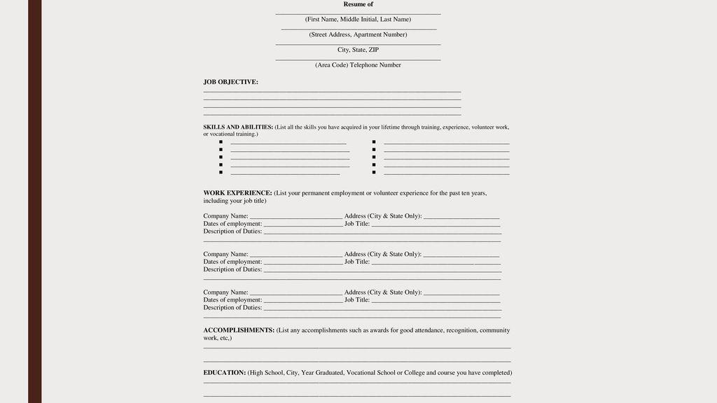 desired job title - Towerssconstruction