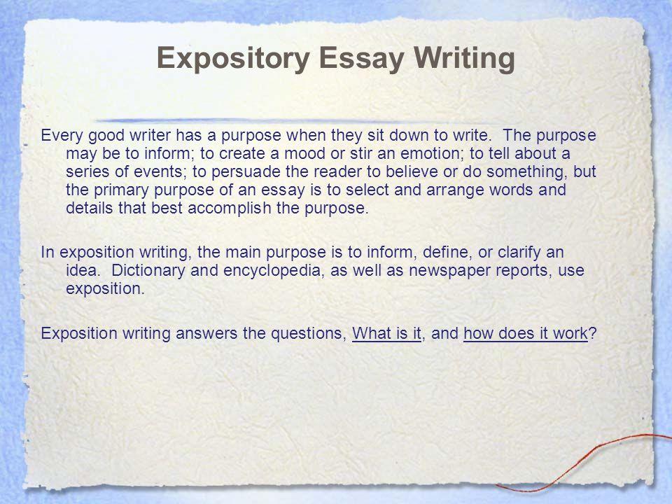 Writing an expository essay  Original content