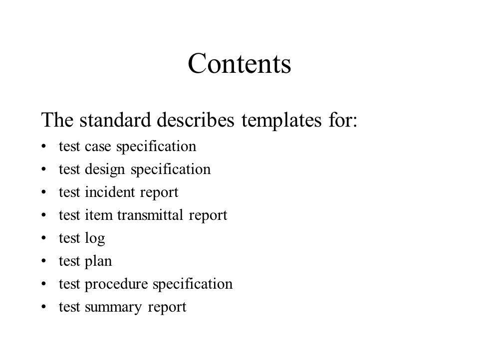 IEEE Standard for Software Test Documentation IEEE Std - ppt download
