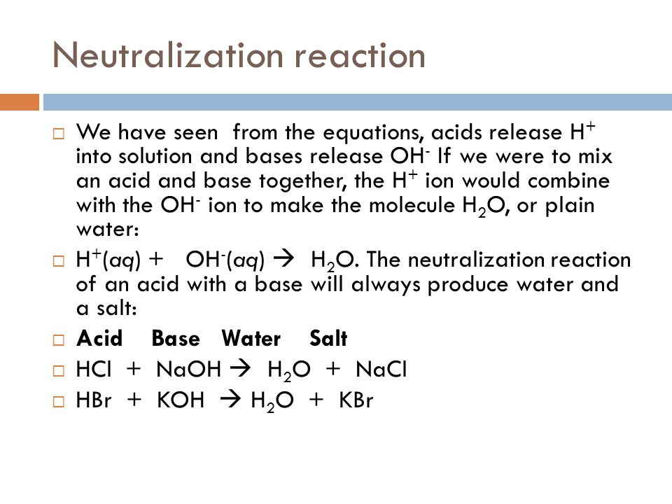 neutralization reactions Chemistry General Pinterest - dental release form