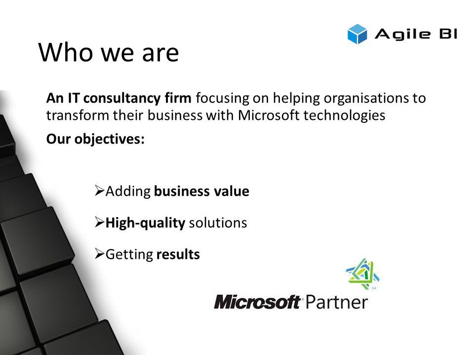 AGILE BI Company profile Today\u0027s Format ○ Registration