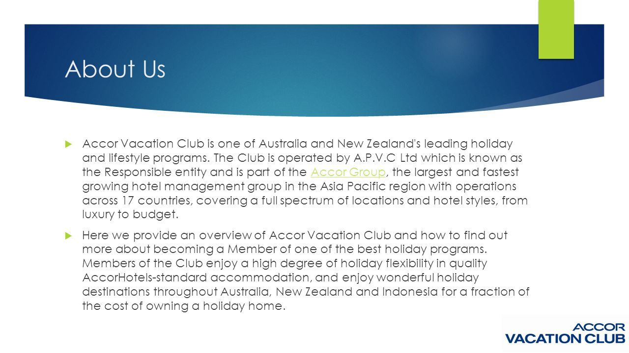 Accor Group Accor Vacation Club Best Timeshare Program Best Holiday Resort