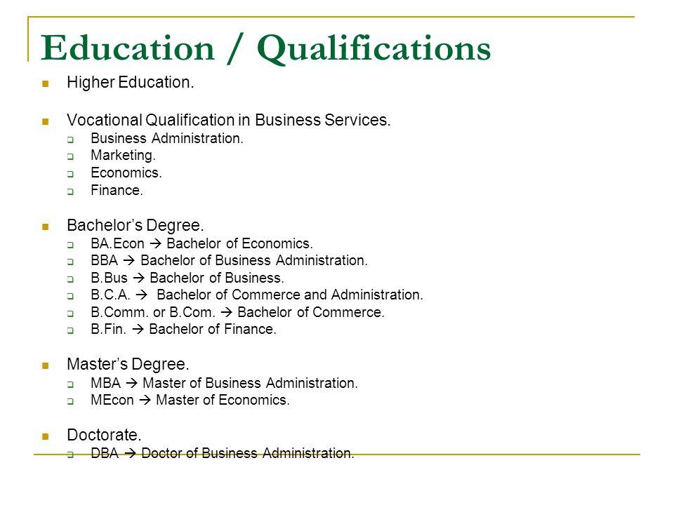 CV WRITING -BASICS- Cv Name Address Tel PARTS OF A CV - personal qualifications for resumes