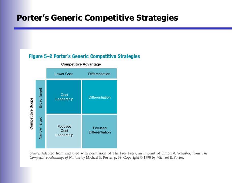 Michael porter\u0027s three competitive strategies Term paper Service - porter's three generic strategies