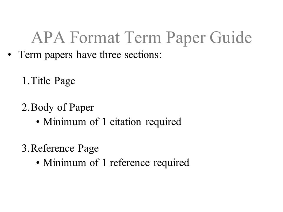 Term paper layout apa Research paper Academic Writing Service - term paper format