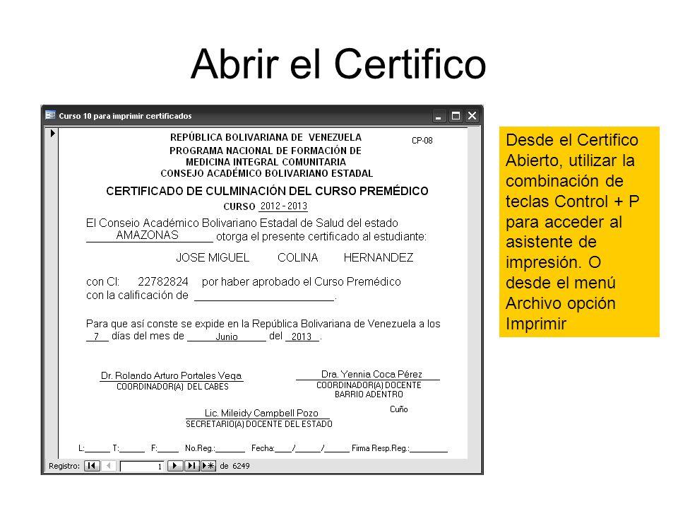 Consejos para imprimir los certificados y modelos desde la base MIC - modelos de certificados