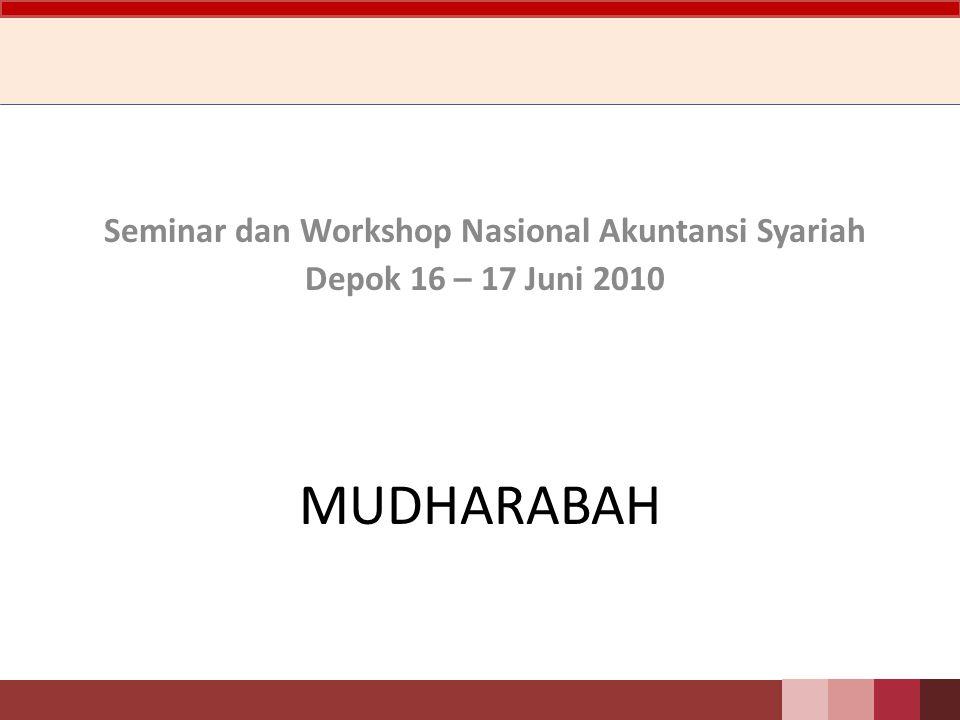 Jurnal Mudharabah Mitrariset Contoh Skripsi Tesis 52 Mudharabah Seminar Dan Workshop Nasional Akuntansi Syariah Depok 16