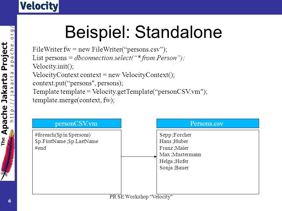 Velocity Template Engine | colbro.co