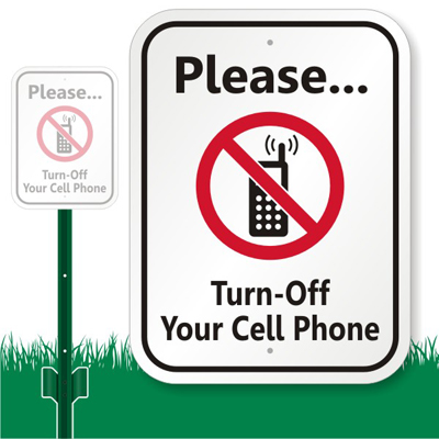Turn Off Cell Phone Signs SmartSign - Turn Off Cell Phone Sign