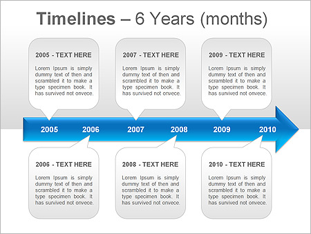 Timeline PPT Diagrams  Chart  Design ID 0000001238