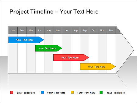 Project Timeline PPT Diagrams  Chart  Design ID 0000001798