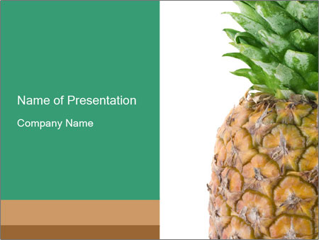 Tropical Pineapple PowerPoint Template, Backgrounds  Google Slides