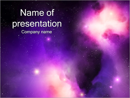 Space Nebula PowerPoint Template, Backgrounds  Google Slides - ID