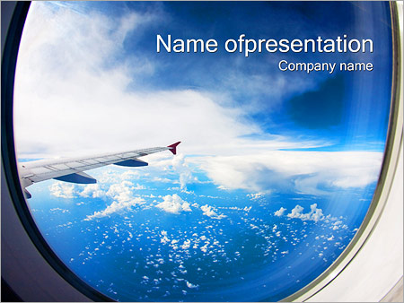 Aircraft Window PowerPoint Template, Backgrounds  Google Slides