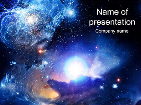 Universe PowerPoint Template, Backgrounds  Google Slides - ID