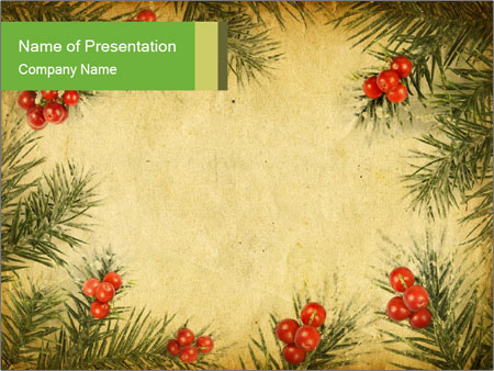 Vintage Christmas Card PowerPoint Template, Backgrounds  Google