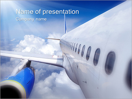 Travelling By Plane PowerPoint Template, Backgrounds  Google Slides