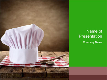 Chef Cook\u0027s Hat PowerPoint Template, Backgrounds  Google Slides
