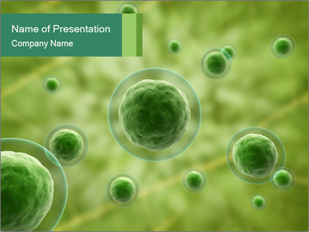 Green Molecules PowerPoint Template, Backgrounds  Google Slides