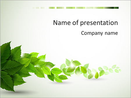 Leaves Composition PowerPoint Template, Backgrounds  Google Slides
