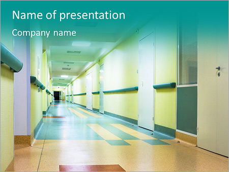 Corridor in hospital PowerPoint Template, Backgrounds  Google