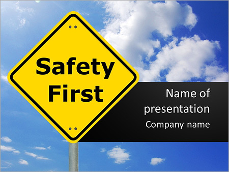 Safety First PowerPoint Template, Backgrounds  Google Slides - ID