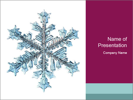 Snowflake PowerPoint Template, Backgrounds  Google Slides - ID