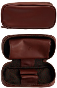 Accessories: Pipe Bags and Pouches Castello Leather 2 Pipe ...