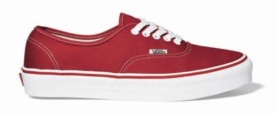 Ua Authentic Red Vans Baskets Sneakers Snowleader