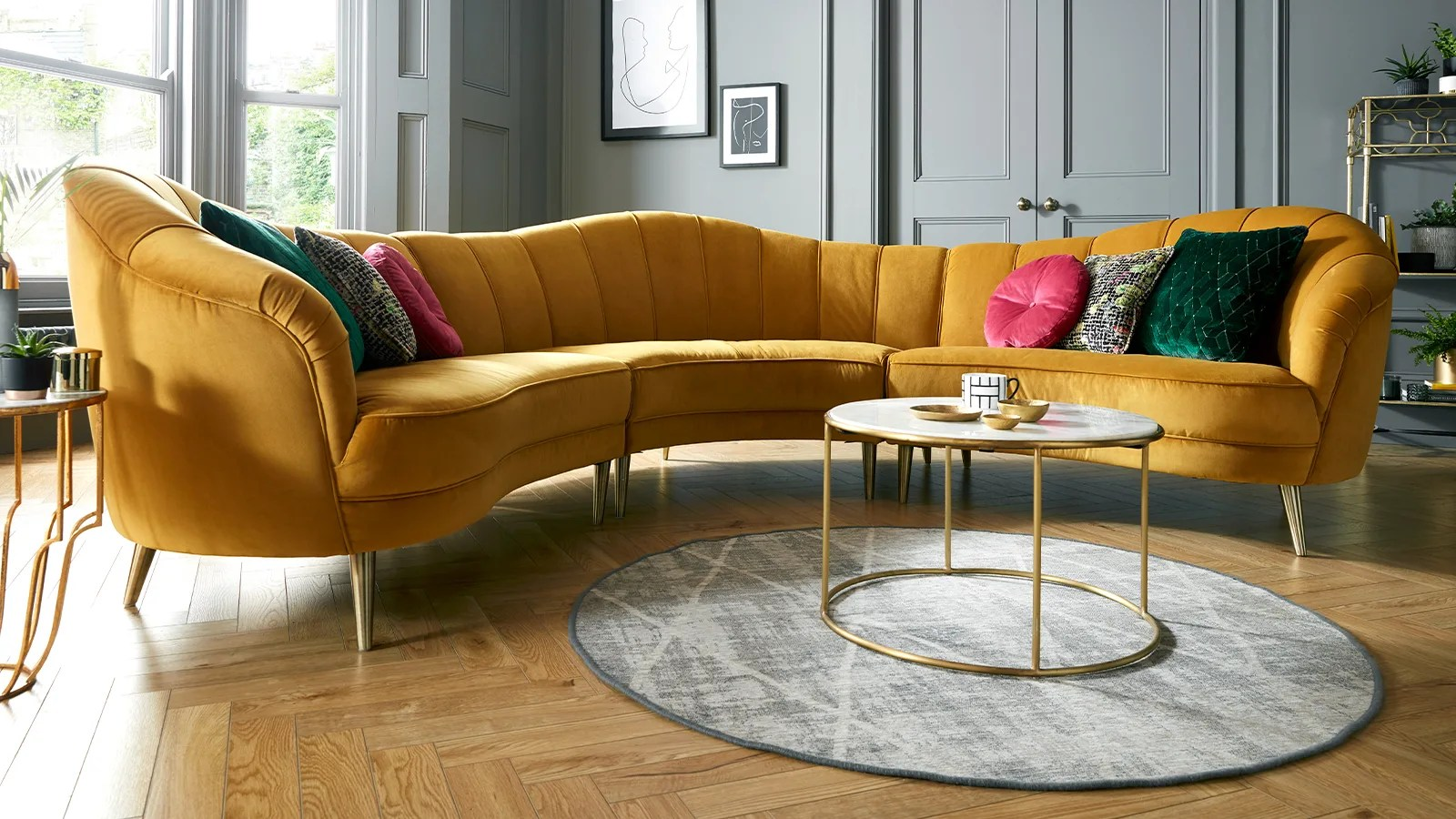 Sofology Yellow Sofa New In Sofology