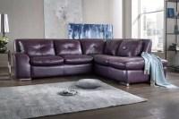 Purple Leather Corner Sofa   www.energywarden.net