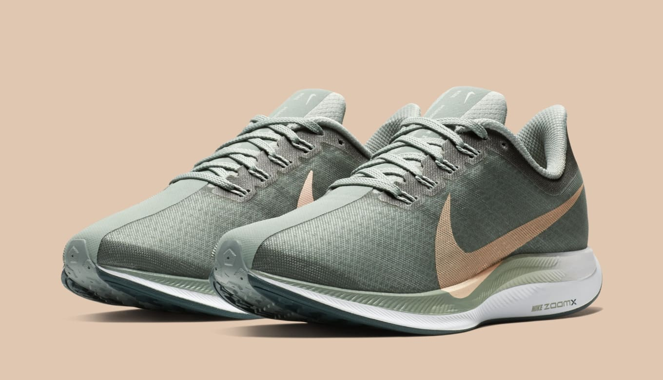 Nike Zoom Grey And Green Wmns Nike Zoom Pegasus Turbo Mica Green Lt Silver Crimson