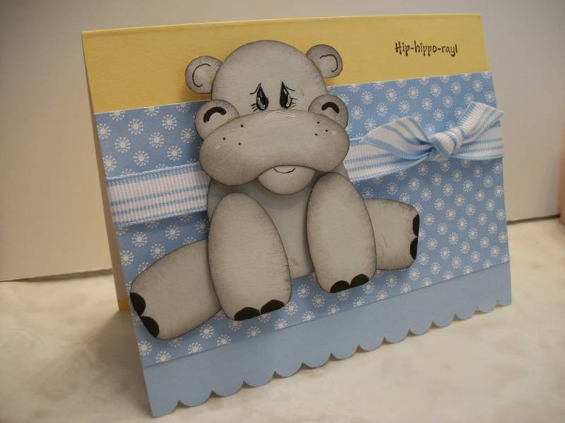 Baby Pen Animal Punch Art Hippo By Mrsboz At Splitcoaststampers