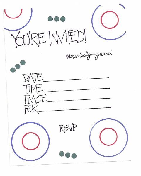 Simple Birthday Invitation by Sandy Weakley - at Splitcoaststampers