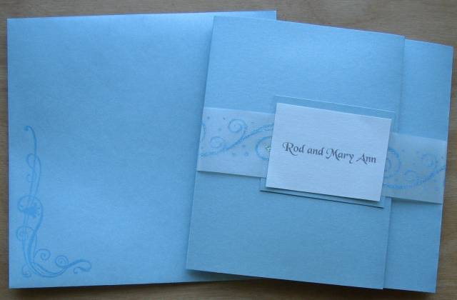 Wedding Invitation Pocketfold With Envelope By Mcost At