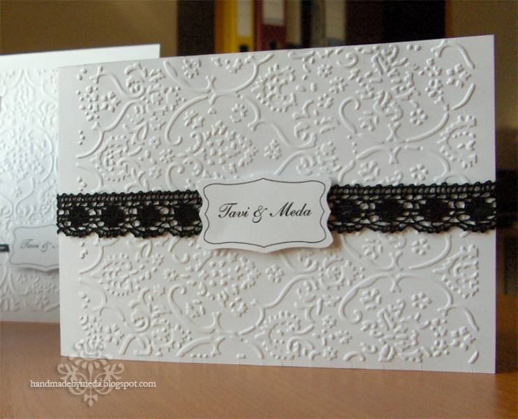 black white wedding invitations