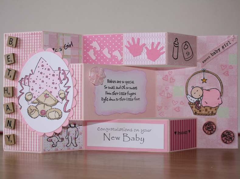 Tri Shutter baby girl card by Erie1 - at Splitcoaststampers