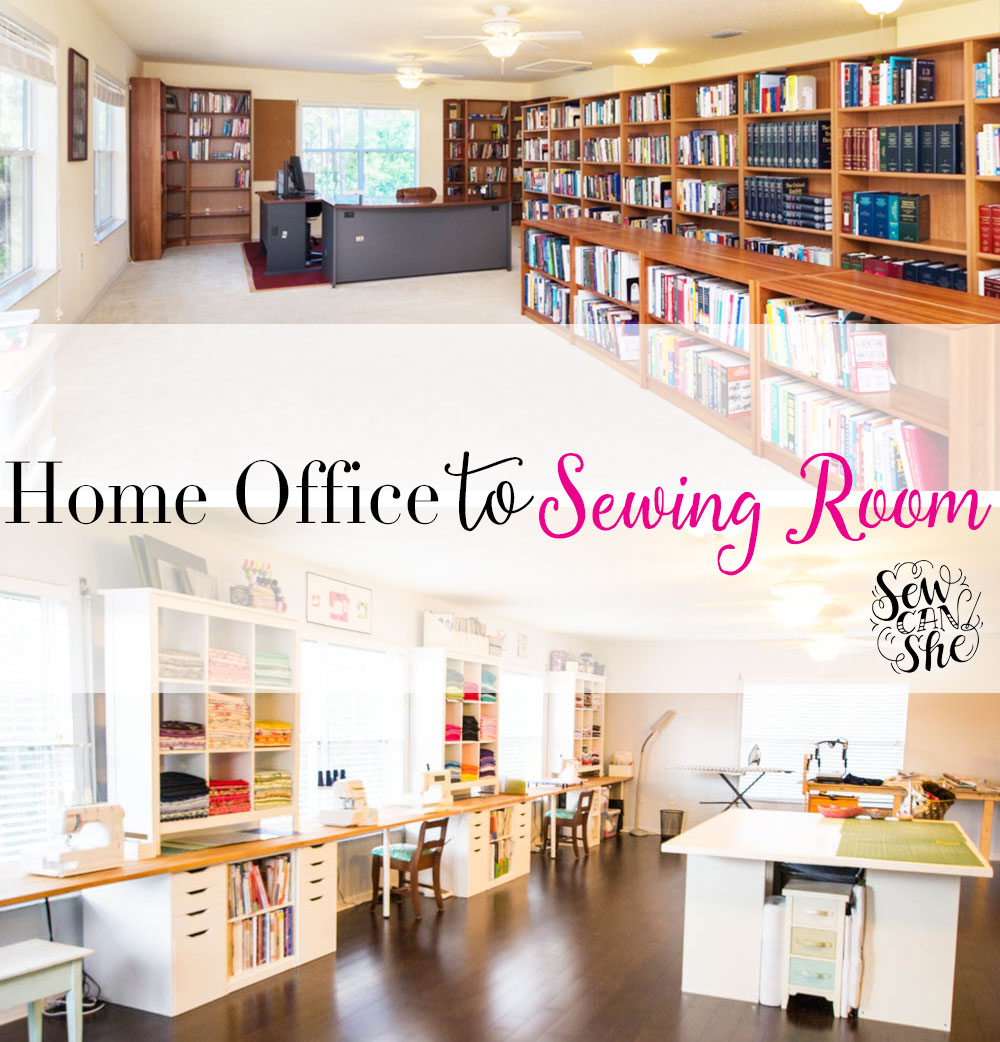 My Home Office To Sewing Studio Remodel Is Finished Sewcanshe Free Sewing Patterns And Tutorials