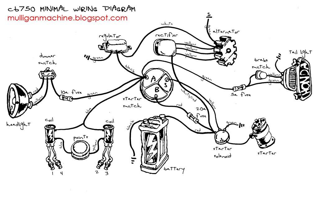 honda cb750 wiring diagram on sohc honda cb750 chopper wiring diagram