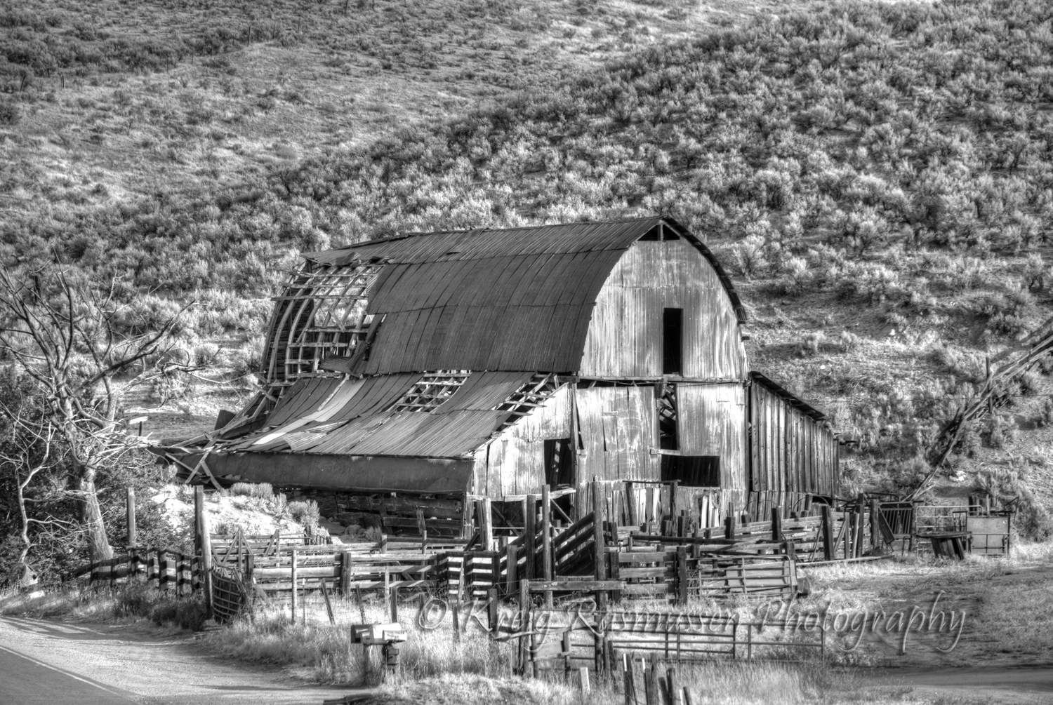 Old Barns B W Kreig Rasmussen Photography
