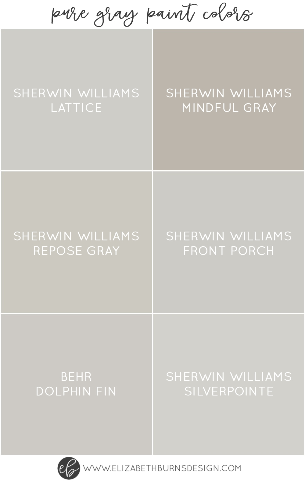 The Best Pure Grey Paint Colors Paint Guide Elizabeth Burns Design Raleigh Nc Interior Designer