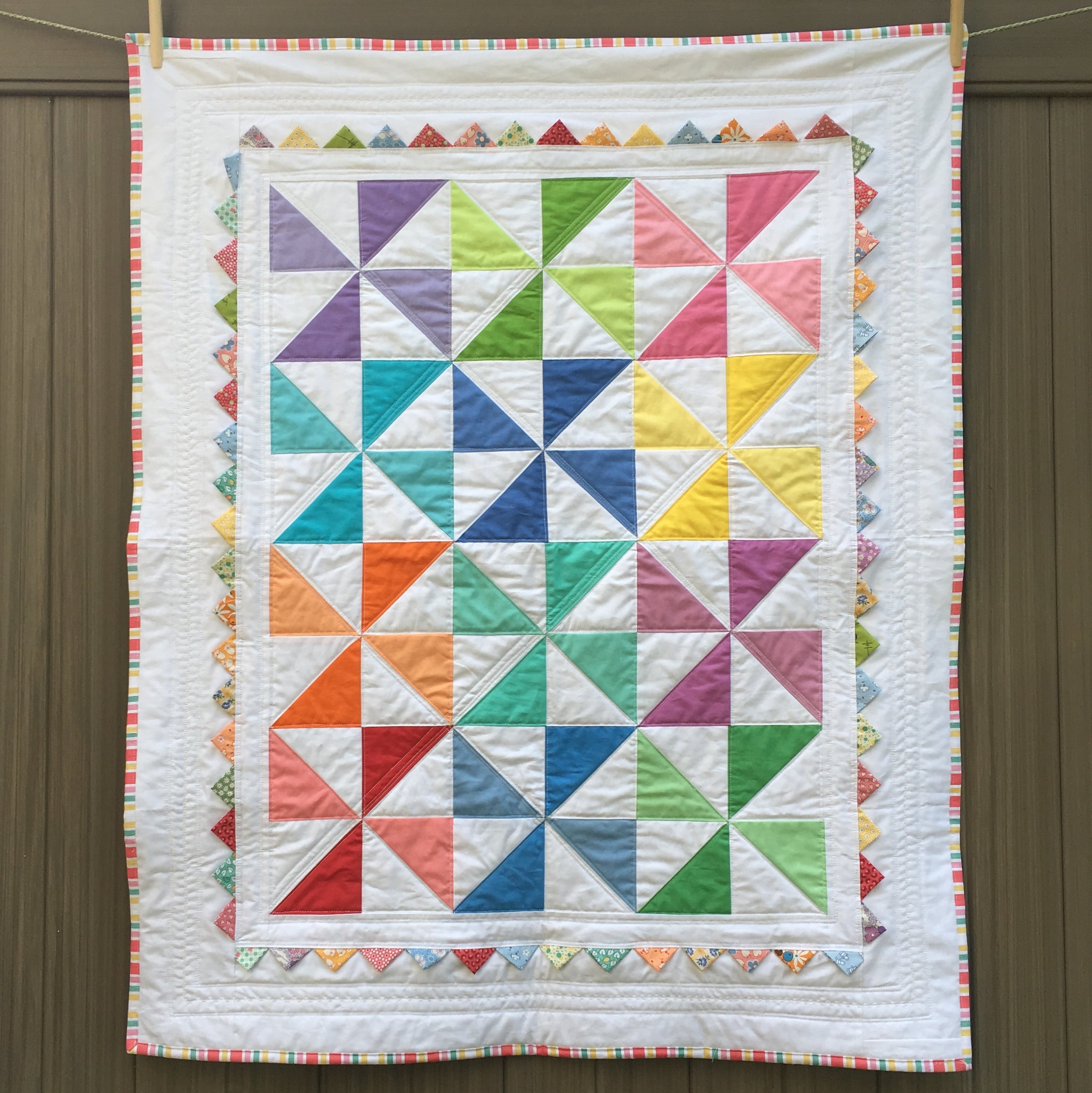 Baby Quilts.com Pinwheel Baby Quilt Sleeping Dog Quilts