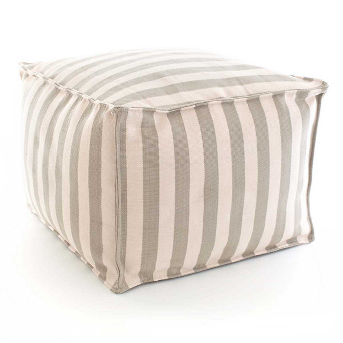 Trimarin Stripe Indoor Outdoor Pouf Hildreth S Home Goodshildreth S Has The Largest Selection Of Indoor And Outdoor Furniture Accessories The East End Of Long Island Ny We Carry Sofas Tables Rugs Bedding