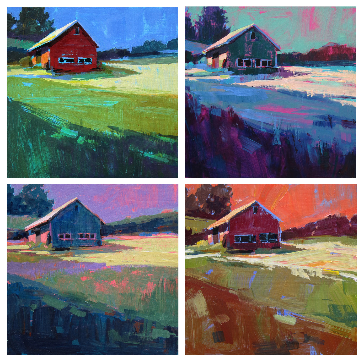 Online Color Workshop Old Paintings By Patti Mollica