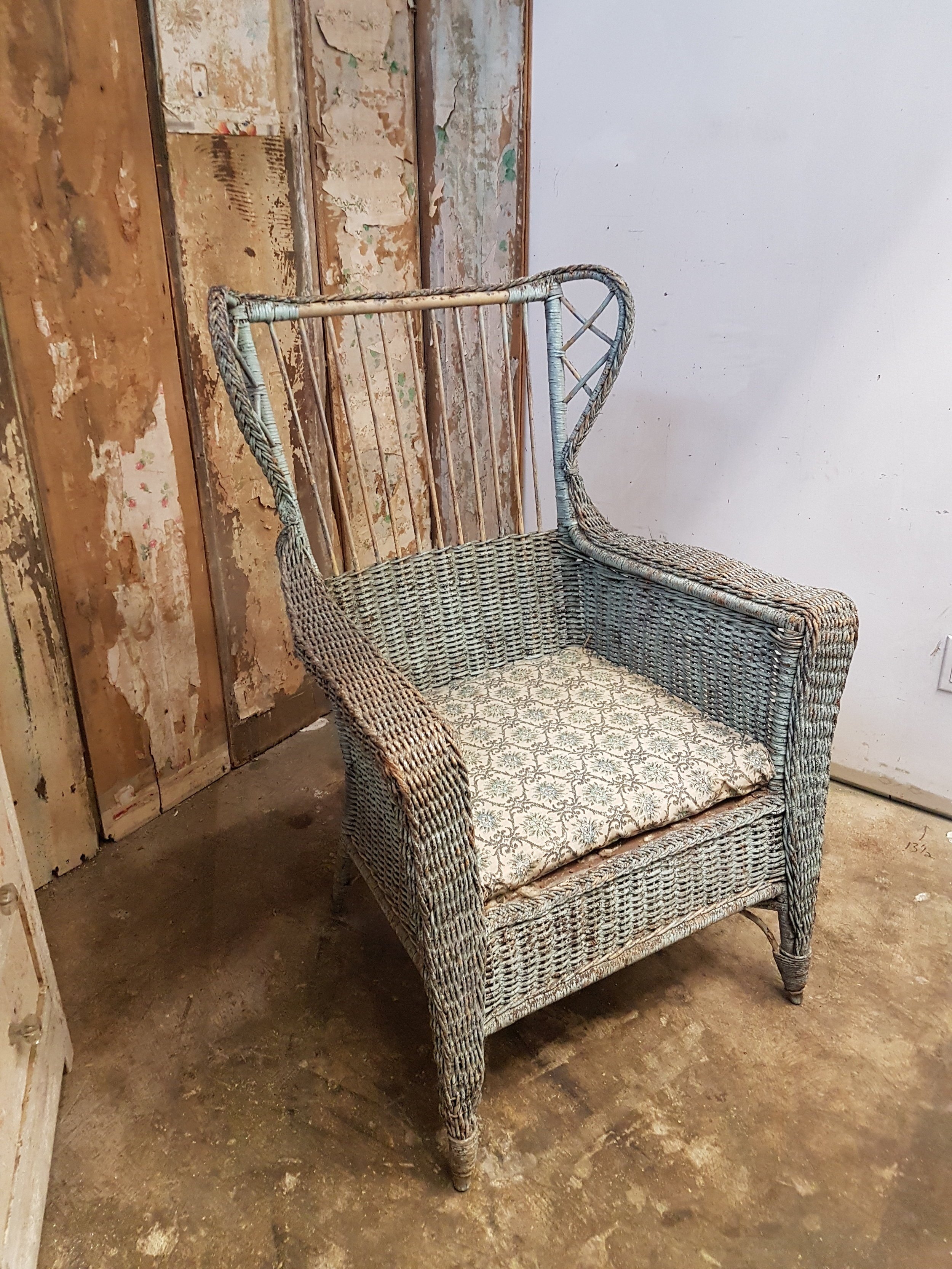 Fauteuil Shabby Chic Fauteuil En Rotin Shabby Chic Antique C 1027