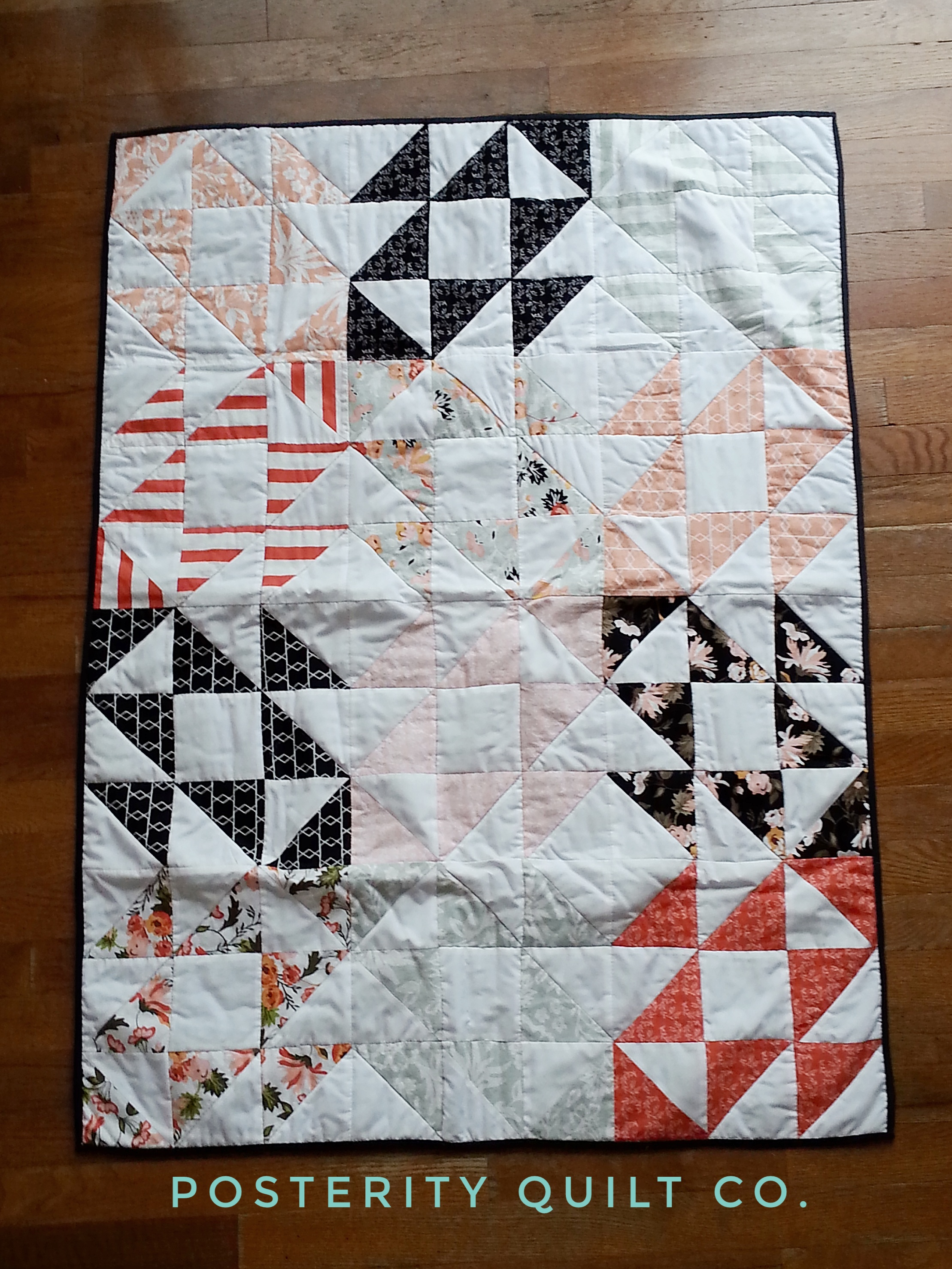 Patchwork Set Baby Ms L S Baby Quilt Squash Blossom Quilt Posterity Quilt