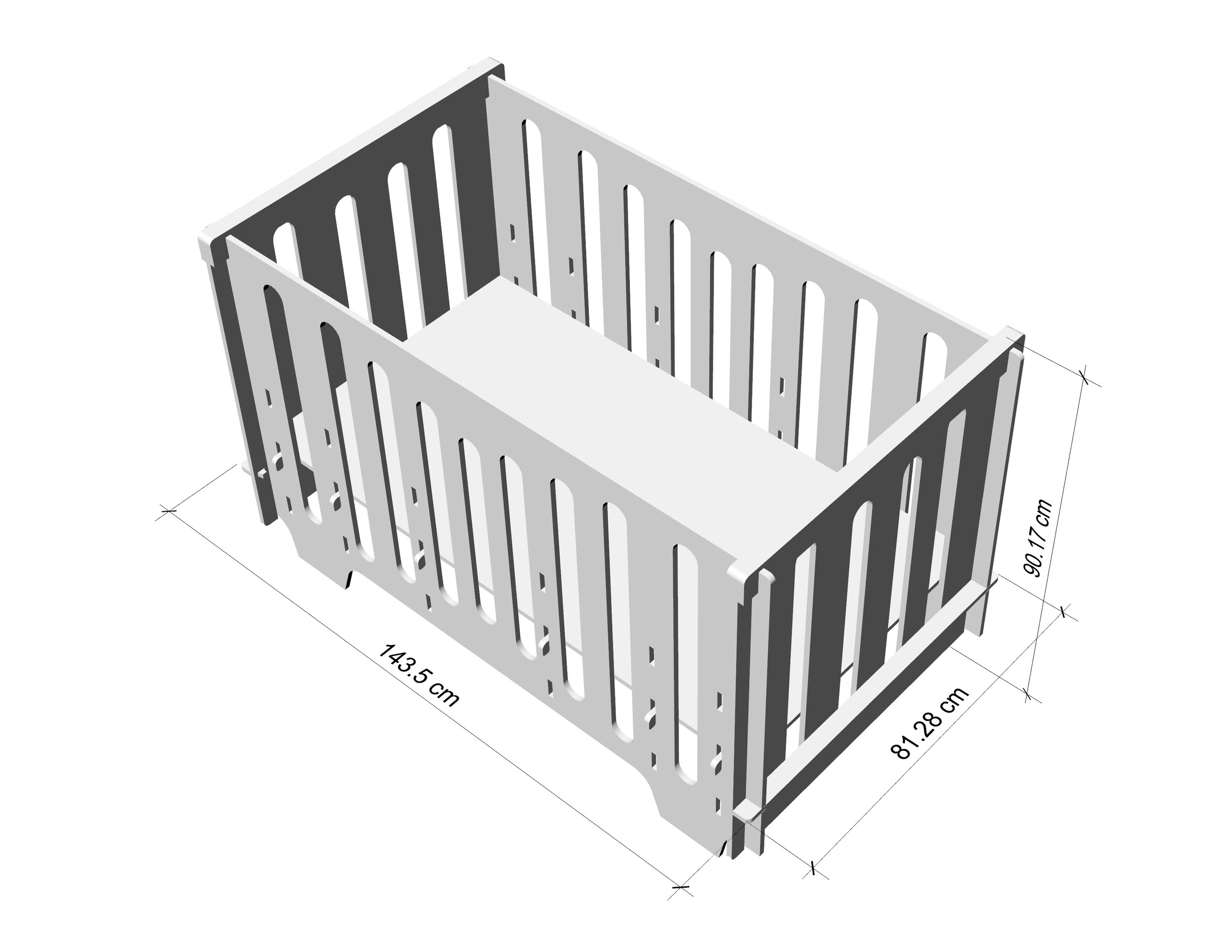Baby Cradle Dimensions Noni Full Size Crib Free Shipping Noninoni Kids Best Baby Cribs Made In The Usa No Tools Required Simple Assembly