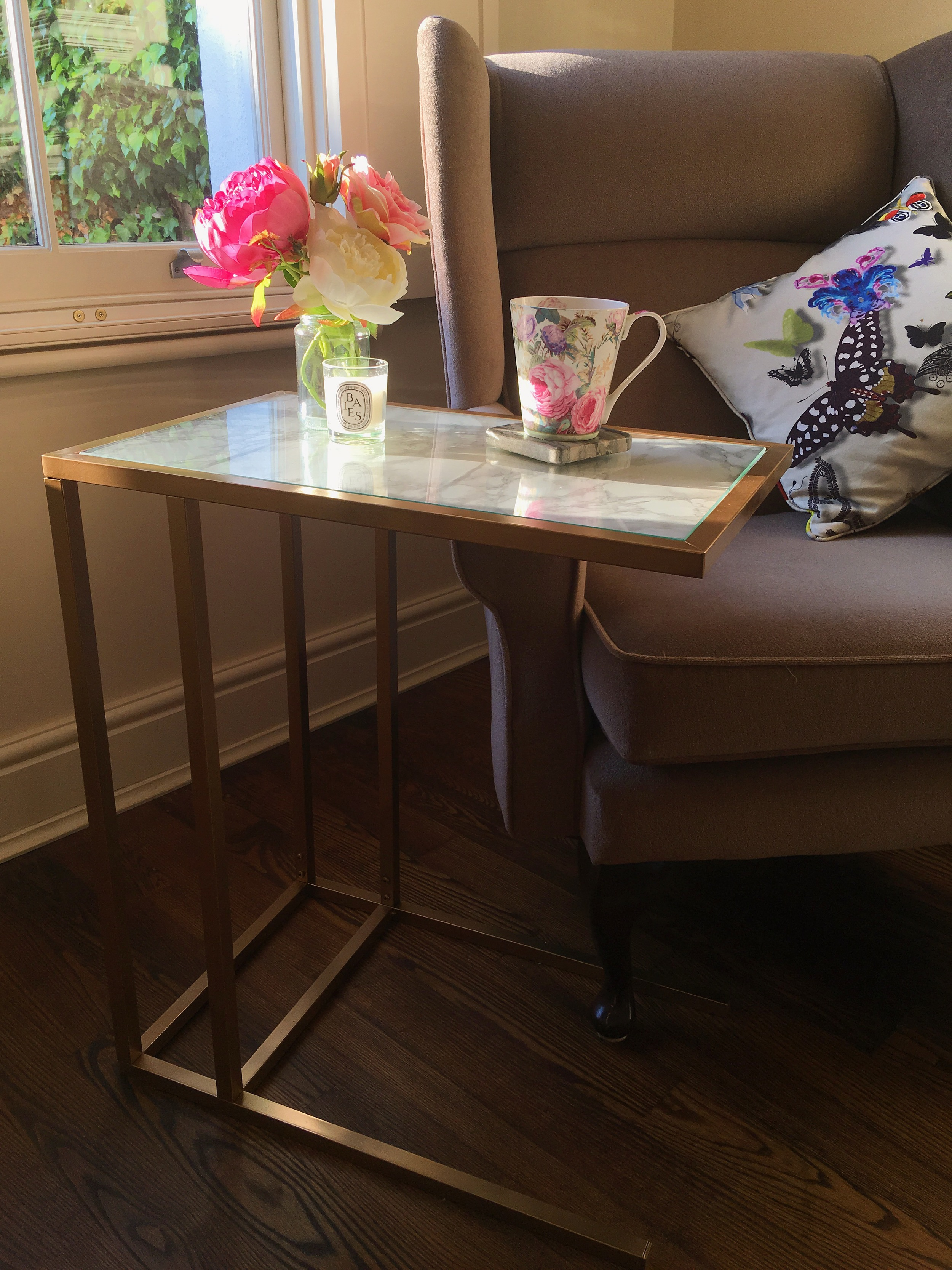 Create This Gold Marble Side Table With This Easy Ikea Hack Melanie Lissack Interiors